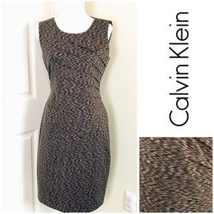Dresses & Skirts - Calvin Klein Sheath Dress Sleeveless Marled Sz 10
